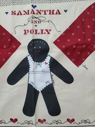 Samantha and Polly Doll Fabric Panel Primitive Country African American Cut Sew $9.99