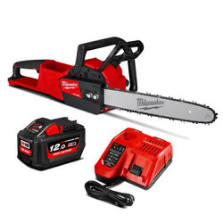 Milwaukee Fuel M18 Fchs-121b Chainsaw Brushless With 1 Battery 12.0ah 18v