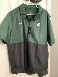 Nike Michigan State Spartans On Field - 1/4 Zip Jacket Pullover- Mens M - 70