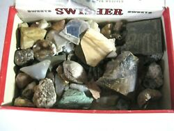 Swisher Sweets Cigar Box Full Of Rocks -- Some Polished, Some Not