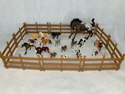 Breyer And Dreamworks Horse And Accessory Lot Truck And Trailer And Stable