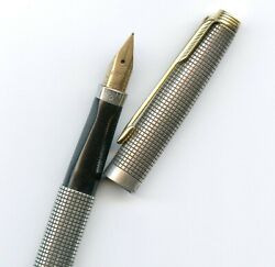 Parker 75 Cisele Sterling Silver Fountain Pen, Made In Usa 65 F Nib