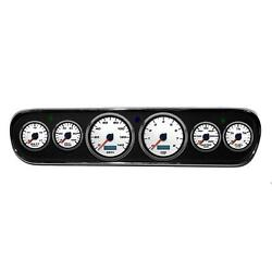 New Vintage Usa 02708-03 6 Gauge Performance Ll Wht 64-66 Mustang