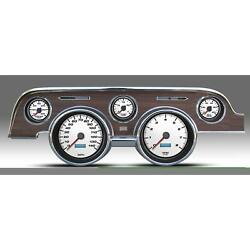 New Vintage Usa 02717-03 5 Gauge Performance Ll Wht 67-68 Mustang