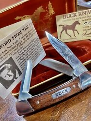 Buck Aurum Colt Etched 703 Model New Knife Old Stock