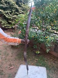 19th C Antique Rare Iron Bow Hand Forged Indian Collectible Sword Hunting Bow
