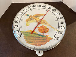 The Original Jumbo Dial By The Ohio Thermometer Co. Pheasant