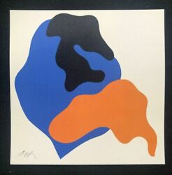 Jean Hans Arp - Composition I Lithography 11 13/16x11 13/16in Museum