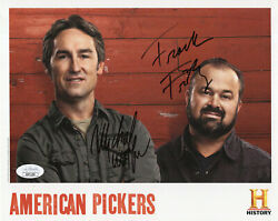 American Pickers Hand Signed 8x10 Photo  Signed By Frank Fritz+mike Wolfe  Jsa