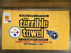 Terrible Towel Myron Cope's Pittsburgh Steelers Vs Tennessee Titans 9/8/2013