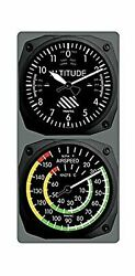 Trintec Aviation Altimeter Altitude Clock And Airspeed Thermometer Console Set