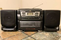 Vintage 1997 Jvc Pc-xc11 3 Disc Cd Player / Cassette Tape / Radio Stereo Boombox