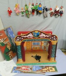 Vintage Fantasy Puppet Theatre, 12 Puppets / Marionettes Made In Czech Republic