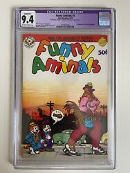 Funny Aminals Nn Cgc 9.4 Apex Novelties Off-white White Pages