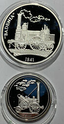 28.5 Grams Of .999 Silver Coins Old Trains