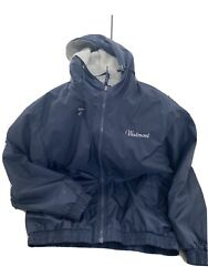 Charles River Pack N Go Nylon Jacket Poly Lined Rain Jacket Menand039s Small- Navy