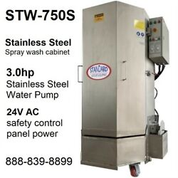 Spray Wash Cabinet Stainless Steel Parts Washer Cabinet Stw-750s - 1,250lbs Load