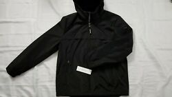 New Calvin Klein Menand039s Water And Wind Protection Black Hooded Jacket Size L