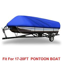Blue 17-20ft 210d Boat Cover Waterproof Trailerable For Square Shape Ship