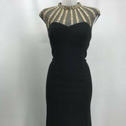 Js Collections Black Evening Gown 8 $47.99