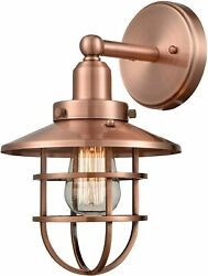 Copper Look Farmhouse Led Light Caged Fixture Cabin Patio Deck Garage Industrial