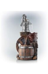 3-tier Old-fashioned Pump Barrel Fountain Outdoor Fountain A M29