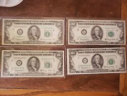 1950e 100 Frn District Set. Scarce Set With Chicago Too.4 Notesno Ny Star