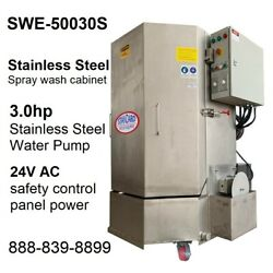 Spray Wash Cabinet Stainless Steel Parts Washer Cabinet Swe-50030s - 1,250lb Cap