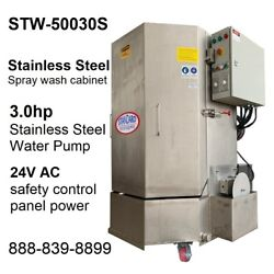 Spray Wash Cabinet Stainless Steel Parts Washer Cabinet Stw-50030s - 1,250lb Cap
