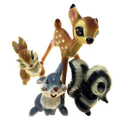 Bambi Flower Thumper And Miss Bunny Figurines Disney American Pottery Shaw 1940s
