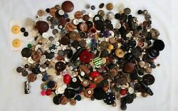 Huge Lot Sewing Buttons Antique Vintage Contemporary Mixed Over 2 Lbs