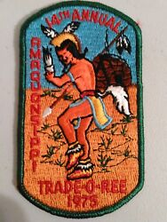 Vintage Boy Scout Amaquonsippi Trade O Ree Patch 1975 14th Annual