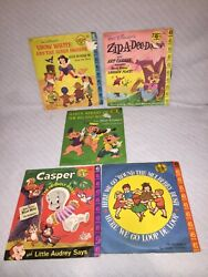 Lot Of Four 45 Rpm And One 78 Rpm Walt Disney Kids Vinyl Records In Sleeves