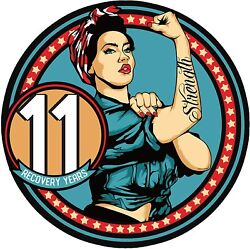 Rosie Recovery Strength 11 Year Aa/na Medallion - Tri-plate Eleven Year Chip/coi