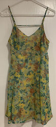 Nordstrom Lush womens dress Size Small Green Floral $8.00