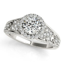 1.20 Ct Natural Diamond Wedding Ring For Bridal Solid 950 Platinum Size 6 7 8 9