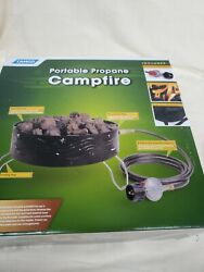 A1. Camco Portable Campfire Outdoor Propane Heater Fire Pit With Lava Rocks