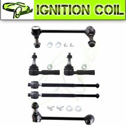Fit For 06-10 Dodge Charger 6 X Front Inside Outside Tie Rod Ends Sway Bar Link