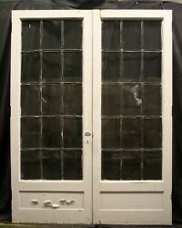 3 Pair Avail 60x82x1.75 Antique Vintage Wood Double Doors Window Leaded Glass