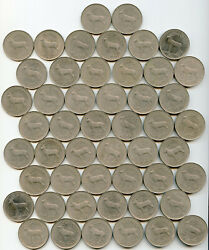 Ireland - 1 Punt Year 1990 Red Deer Wholesale Lot Of 50 About Uncirculated Coins