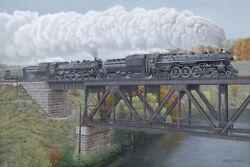 Canadian National Railways Cnr 6167 6218 Giclee Print On Watercolor Paper