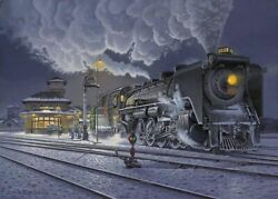 Canadian National Railways Cnr Allandale, On Giclee Print On Watercolor Paper