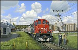 Canadian National Railways Cnr Giclee Print On Watercolor Paper By David A. Oram