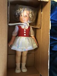 Vintage 1972 Shirley Temple Doll 16andrdquo - Ideal - Dotted Swiss Dress