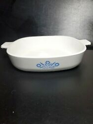 Rare Vintage Corning Ware Blue Cornflower .9 In. p-9-b 1960s Before Microwave O