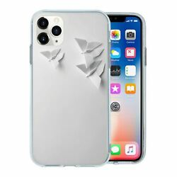 For Apple Iphone 11 Pro Max Silicone Case Origami Butterflies - S322