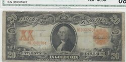 1906 20.00 Large Sized Gold Certificate Fr 1185 In Circulated Condition