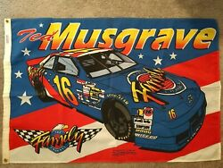 1995 Sports Design Ted Musgrave 16 Family Channel Car 41 X 27.5 Flag Banner