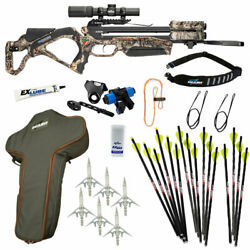 Excalibur Twinstrike Crossbow Pro Package - New For 2021 - Mossy Oak Buc