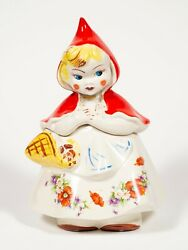 Vintage Hull Pottery Little Red Riding Hood Ceramic Floral Cookie Jar 967